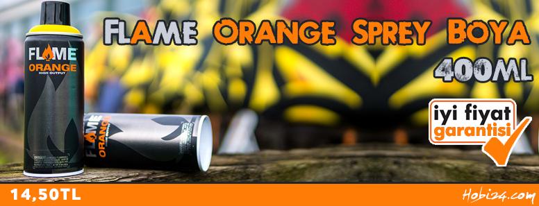 Flame Orange 400ml Sprey Boya