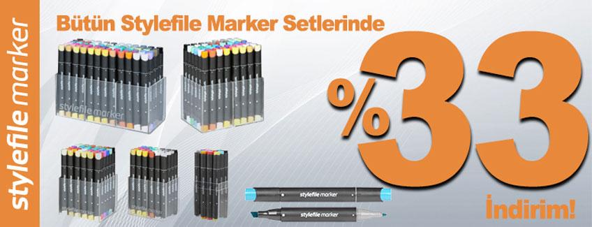 Stylefile Markerlarda %33 İndirim