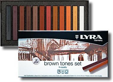 Lyra Polycrayons Soft - Kahverengi Tonlar 12 Renk - | hobi24