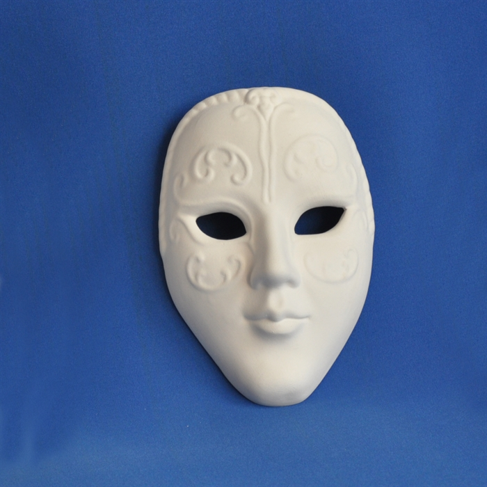 Seramik Obje Yüz Maske Orta