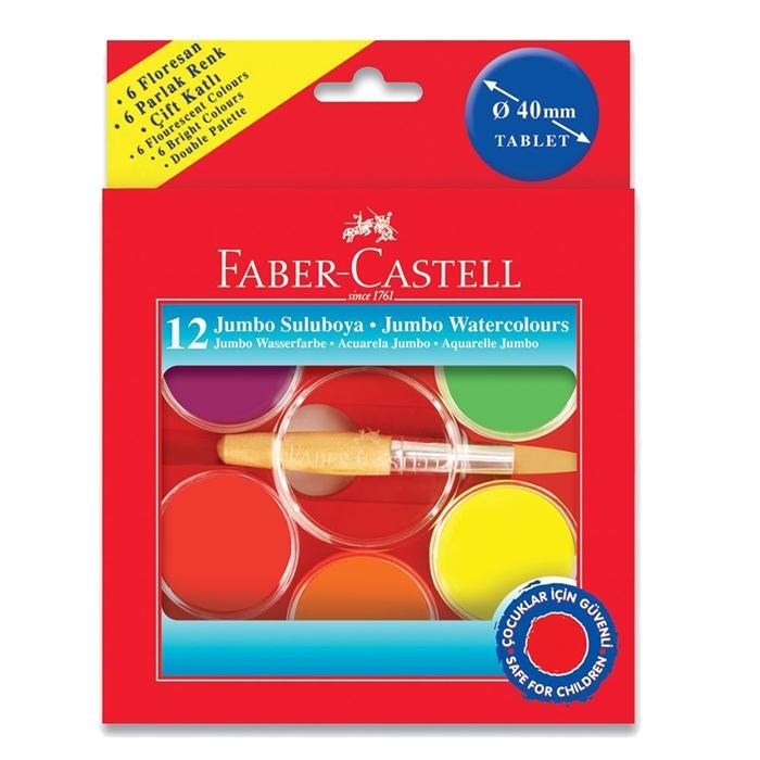 Faber Castell Jumbo Sulu Boya Seti 12 Renk Neon