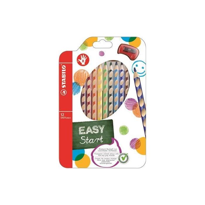 Stabilo Easy Colors Kuru Boya Kalemi 12 Renk Sag El Hobi24