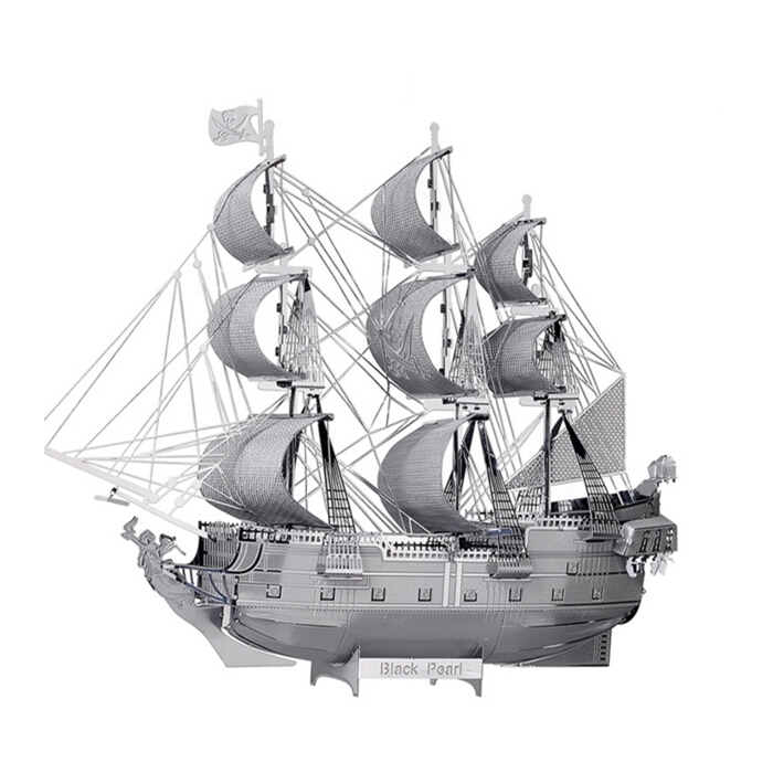 3d Boyutlu Lazer Kesim Maket Korsan Gemisi