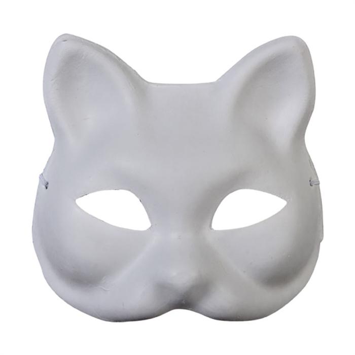 Karton Kedi Maskesi 18x13cm